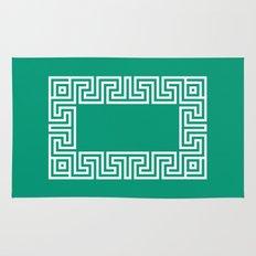 Greek Key emerald Rug