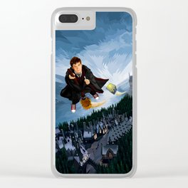 10th Doctor who lost in the wizard World Clear iPhone Case