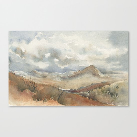 Old Stagecoach route to Nutt Canvas Print