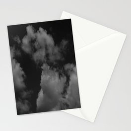 Cloudy black Stationery Cards