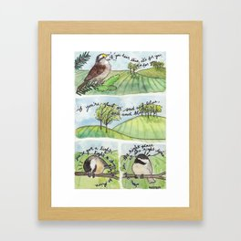 Bird no. 273: This is for you Framed Art Print