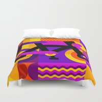bicycle Duvet Covers featuring Bicycle by koivo