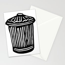 Trash Can Stationery Cards