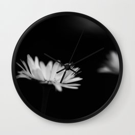 White daisys in the Black Wall Clock