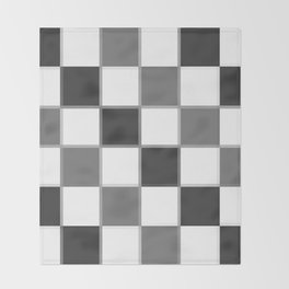Slate & Gray Checkers / Checkerboard Throw Blanket