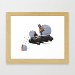 La inocencia no mató al gato Framed Art Print