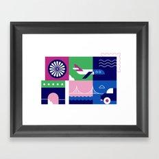 Travel by Plane Framed Art Print