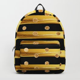 Gold and black stripes Backpack