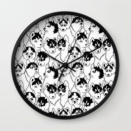 Oh Husky Wall Clock
