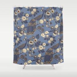 Peacock Garden {Eastern Blue} Shower Curtain