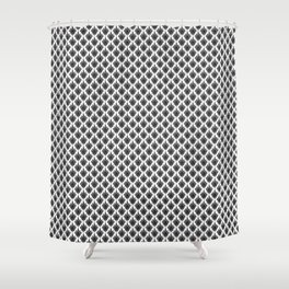 Black and White Art Deco Fan Design Shower Curtain