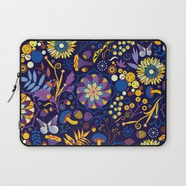Ripe autumn – purple and yellow Laptop Sleeve