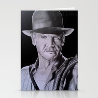 indiana jones Stationery Cards featuring Harrison Ford (Indiana Jones) by Andulino