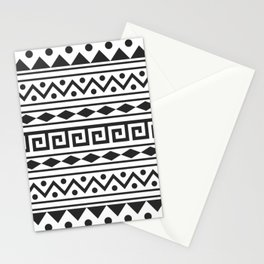 Aztec Pattern with tribal design Stationery Cards