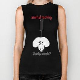 Animal Testing - Really people? Biker Tank