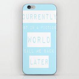 Lost in a Fictional World iPhone Skin