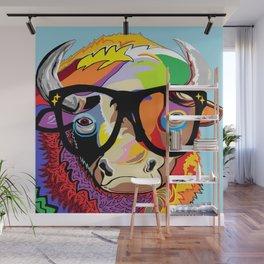 "Hipster Bison ""Buffalo"" Wall Mural"