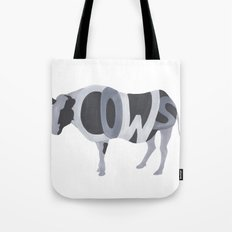 Cows Typography Tote Bag
