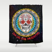 day of the dead Shower Curtains featuring Day of the Dead by Gary Grayson