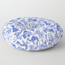Arabian Nights // China Blue Floor Pillow