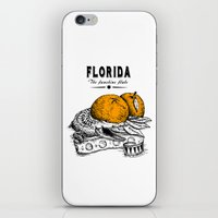 florida iPhone & iPod Skins featuring Florida by Krikoui