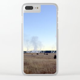 Bison at Sunrise Clear iPhone Case