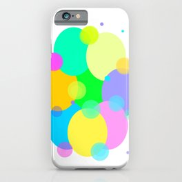 Colorful bubbles and circles design iPhone Case