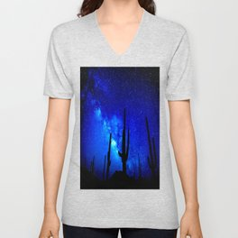 The Milky Way Blue Unisex V-Neck
