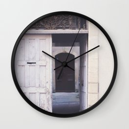 Cottage Doors in Bayeux Wall Clock