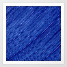 blue leaf II Art Print