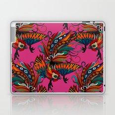 rooster ink pink Laptop & iPad Skin