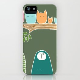 Sleepy Birds iPhone Case