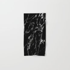 Black magic marble Hand & Bath Towel