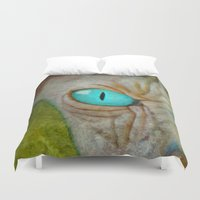 sphynx Duvet Covers featuring Sphynx Stare by Bruce Stanfield
