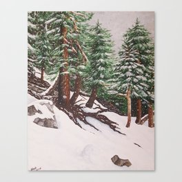 Snowing at Mount Baldy Canvas Print