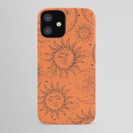 Orange Magic Celestial Sun Moon Stars iPhone Case