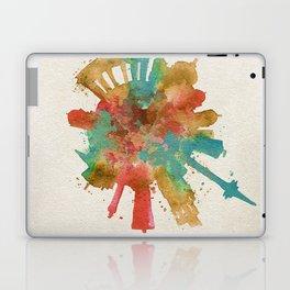 Berlin, Germany (Deutschland) Colorful Skyround / Skyline Watercolor Painting Laptop & iPad Skin