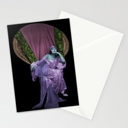 Wicker Chair Woman Stationery Cards