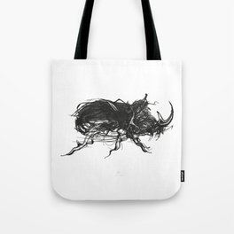 Beetle 1. Black on white background Tote Bag