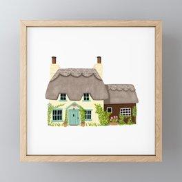 Thatched Cottage Framed Mini Art Print