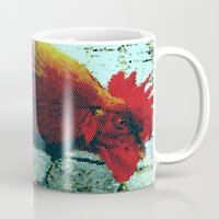 cock Mugs featuring cock by habish