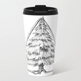 Tree in Triangle Metal Travel Mug