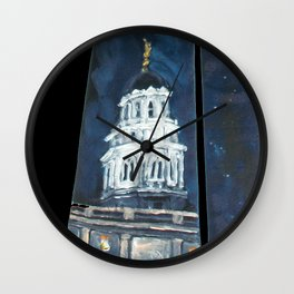 Nauvoo IL LDS Temple Tie Wall Clock