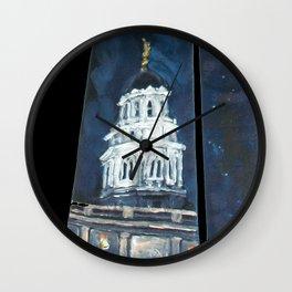 Nauvoo IL LDS Temple Tie Wall Clock