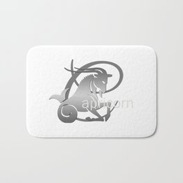 Capricorn the Goat - Zodiac Sign Bath Mat