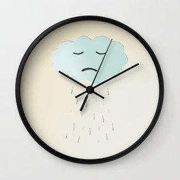 Sad Cloud Wall Clock