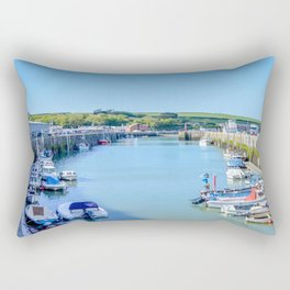 Padstow - Boat Pound (Full View) Rectangular Pillow