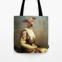 bambi Tote Bags featuring Bambi by Martine Roch