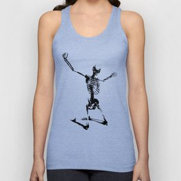 SKELETON GIVE UP Unisex Tank Top