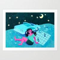 Midnight Picnic Art Print